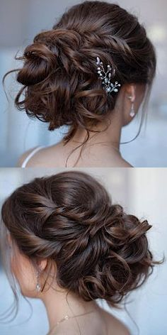 Coiffure De Mariage: Featured Hairstyle: tonyastylist (Tonya Pushkareva) www.in … - Hair Styles 2018 Unique Wedding Hairstyles, Formal Hairstyles, Bride Hairstyles, Shag Hairstyles, Elegant Hairstyles, Celebrity Hairstyles, Vintage Hairstyles, Elegant Wedding Hair, Wedding Hair And Makeup