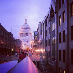 St. Paul from the Millennium bridge #london #urbanscape by ikaros.photo