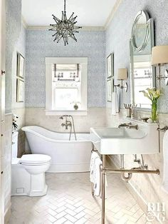 Magnificent Gather some inspiration for your own bathroom makeover with these traditional bathroom design ideas. The post Gather some inspiration for your own bathroom makeover with these tradi . Elegant Bathroom Decor, Bathroom Design Small, Bathroom Layout, Bathroom Interior Design, Traditional Bathroom Design Ideas, Bathroom Designs, Tile Layout, Traditional Decor, Bath Design