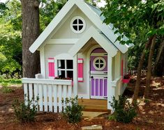 The Sweetheart Playhouse by Imagine That Playhouses! Outside Playhouse, Playhouse Kits, Backyard Playhouse, Build A Playhouse, Wooden Playhouse, Shed Plans, Interior Paint, Play Houses, Outdoor Structures