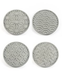 Japanese Pattern Coaster Set of 4