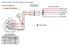 lawn mower ignition switch wiring diagram moreover lawn mower 4 pin fan diagram kohler engine electrical diagram craftsman 917 270930 wiring diagram (i colored a few wires to make