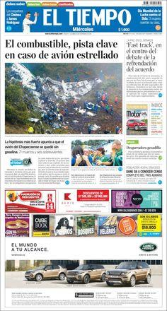 #ForçaChape: Las portadas de la tragedia aérea de #Chapecoense - Clases de Periodismo