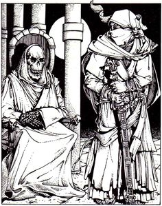 A crypt thing waits in the darkness of its lair.  (AD Fiend Folio, TSR, 1981)