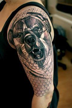 bear tattoo - i really like this