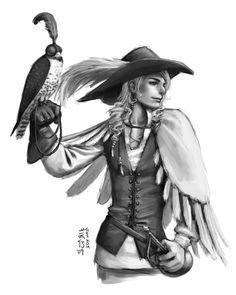 Sketch - Falconer by kagaminoir.deviantart.com on @deviantART