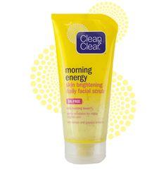 Clean and Clear Morning Energy - Melhor esfoliante facial. Deixa a pele limpa, fresca, sem óleo e tem um cheiro ótimo.