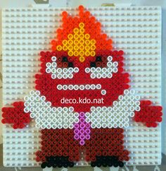 Anger - Inside Out hama perler beads by Deco.Kdo.Nat - Pattern: https://www.pinterest.com/pin/374291419011012979/