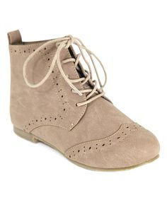 Toddler ankle boots - Taupe Emma Oxford - $14.99