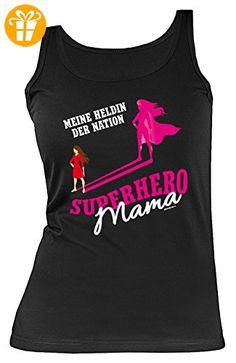 Damen Trägershirt, Tank Top für Mama zum Geburtstag und Muttertag, Sprücheshirt, Funshirt - Meine Heldin der Nation Superhero Mama (*Partner-Link)