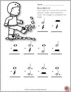 Music Math, Music Classroom, Child Teaching, Piano Teaching, Recorder Karate, Diy Projects That Sell Well, Piano Recital, Math Sheets, Music Worksheets