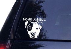 Love A Bull Pitbull Dog Decal Window Sticker