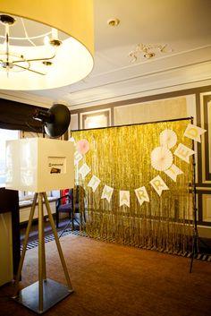 Fotobooth gold Lametta - Photobooth Hintergrund, Foto: AufWolke7, Berlin