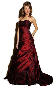 gothic wedding dresses | Gothic Dress: Red & Black Gothic Wedding ...