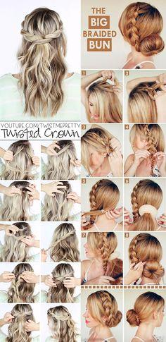 Braided Hairstyles, Wedding Hairstyles, Diy Hair Care, Hair Dos, Prom Hair, Hair Hacks, Bridal Hair, Hair Makeup, Braids
