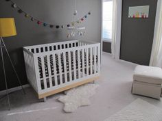 the boo and the boy: Grey walls in nurseries and kids' rooms