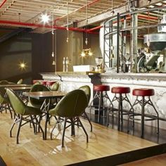 Truth Coffee by  Haldane Marti Cape Town - so here's a steampunk-inspired coffee shop in the city by South African designer Haldane Martin