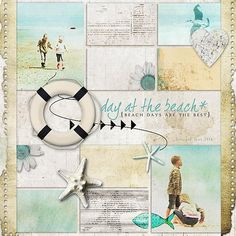 beach scrapbooking layout