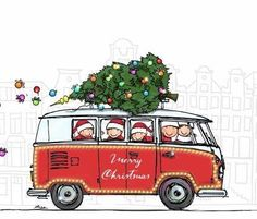 merry christmas and a happy new year Christmas Car, Merry Little Christmas, Christmas Signs, Christmas Images, All Things Christmas, Vintage Christmas, Christmas Holidays, Christmas Crafts, Christmas Decorations