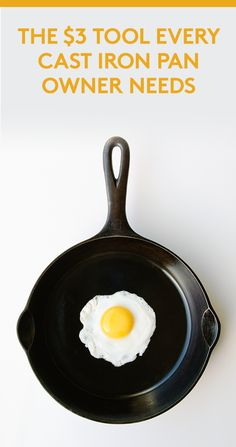 The $3 Tool Every Cast Iron Pan Owner Needs | Raise your hand if you've ever spent more than 15 minutes scrubbing a cast-iron pan. Same. While cast iron is known for cooking up delicious fried eggs and the most flavorful steak, it's also notoriously difficult to clean.