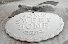 targhetta home sweet home in gesso profumato  : Decorazioni murali di armonia-di-profumi
