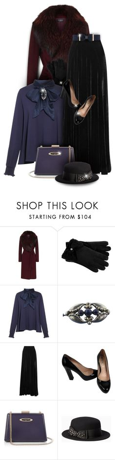 """Vintage velvet outfit"" by kseniz13 ❤ liked on Polyvore featuring Harrods, UGG, Etro, Miu Miu, Lanvin, Kate Spade, City Chic, vintage, outfit and velvet"