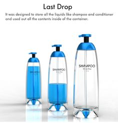 This shampoo dispenser is clean and minimalistic. This is important for a product such as shampoo. Cool Packaging, Bottle Packaging, Beauty Packaging, Packaging Design, Gadgets And Gizmos, Cool Gadgets, Amazing Gadgets, Tech Gadgets, Klein Aquarium
