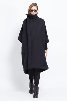 Discover thousands of images about Rick Owens LILIES Quilted Sail Coat (Black Quilt)