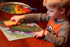 Rainbow Sponge Painting is Super Cool! - hands on : as we grow
