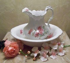 Pitcher and Wash Basin Eugenia Ironstone