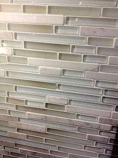 Kitchen Backsplash Neutral ice mist glossy - 3x6 blue grey glass tile - bathroom tile