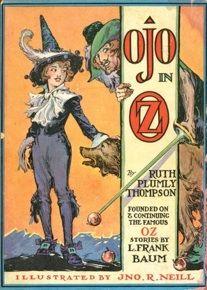 Capa de uma das continuações de O Mágico de Oz, grande sucesso de Lyman Frank Baum, por Ruth P. Thompson.