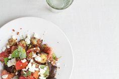Quinoa con berenjena.