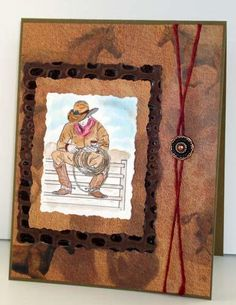 Rubber Stamp Card - Lonesome Cowpoke