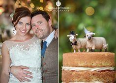 Cripps Barn wedding photography cake toppers sheep