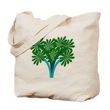 Green Flower Tote Bag