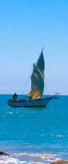 Boat at Cabo Blanco, Piura, Peru