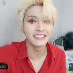 1999 Songs, Say My Name, Red Suit, Woo Young, Kim Hongjoong, Most Handsome Men, Seong, Kpop Boy, Look Cool
