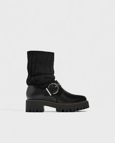 Image 2 of SOCK-STYLE ANKLE BOOTS WITH TRACK SOLE from Zara