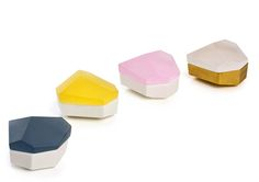 Faceted boxes by Andrea Walsh