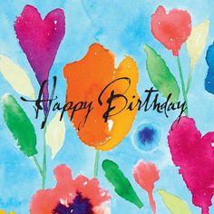 Happy Birthday Artist, Happy Birthday Illustration, Happy Birthday Blue, Happy Birthday Wallpaper, Happy Birthday Wishes Cards, Happy Birthday Beautiful, Birthday Blessings, Birthday Msgs, Birthday Prayer