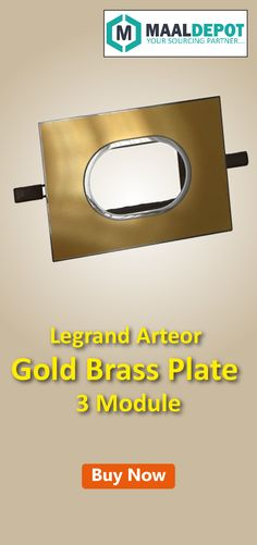 Legrand Arteor Gold Brass Plate -Suits both modern and classic style interiors. Shop at http://bit.ly/2aw6CEZ for affordable prices. To place orders,call or whatsapp to 9019156789