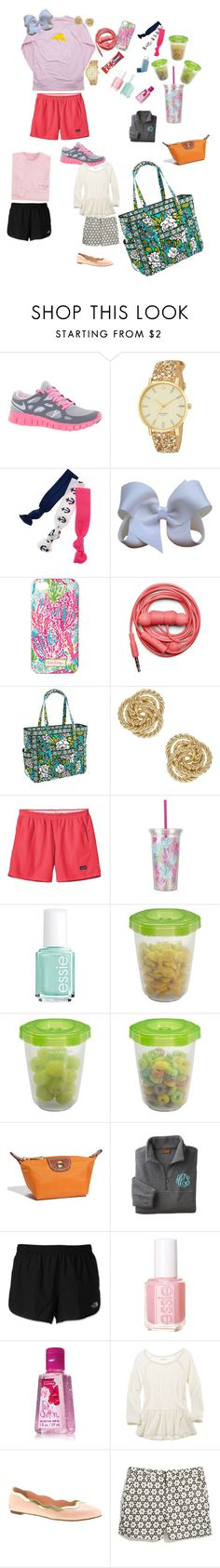 """Weekend with the grandparents"" by ava-lindsey ❤ liked on Polyvore featuring NIKE, Kate Spade, Twistband, Hanes, Lilly Pulitzer, Urbanears, Vera Bradley, Patagonia, Essie and Gerber"