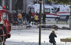''The Turkish president said a Syrian was behind the attack, which killed and wounded both Turks and foreigners'' || ''Six Germans, one Norwegian and a Peruvian were among the wounded, the Dogan News Agency reported'' || ''Some police officers blocked journalists from entering the square and asked them to refrain from taking photographs and video because of a nationwide broadcast ban''