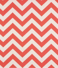 Zig Zag Coral / White | Online Discount Drapery Fabrics and Upholstery Fabric Superstore!