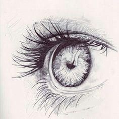 """Life Is a Work of Art"": Photo eye sketch Realistic Eye Drawing, Drawing Eyes, Painting & Drawing, Drawing Hair, Eye Sketch, Eye Art, Henri Matisse, Pics Art, Drawing People"