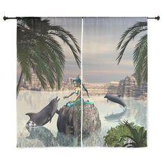 Beautiful #mermaid #Curtains > Beautiful mermaid > dreamworld