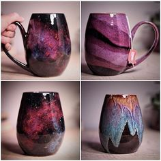 These galaxy-inspired ceramic mugs are out of this world Martha Ste . - These galaxy-inspired ceramic mugs are out of this world Martha Stewart - Ceramic Mugs, Ceramic Pottery, Ceramic Art, Glazed Pottery, Stoneware, Ceramics Pottery Mugs, Painted Pottery, Porcelain Ceramic, Ceramic Sink