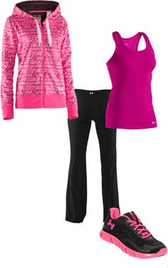"""U is for Under Armour"" by highstreetjazz ❤ liked on Polyvore"