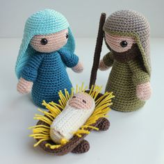 Christmas Nativity, Christmas Holidays, Christmas Crafts, Crochet Toys, Free Crochet, Knit Crochet, Christmas Crochet Patterns, Lana, Knitting Patterns